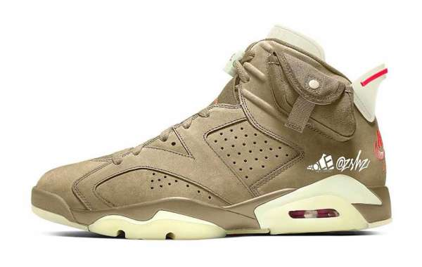 "DH0690-200 Travis Scott x Air Jordan 6 ""British Khaki"" to release this Spring 2021"